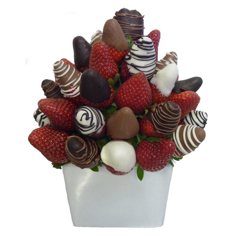 Chocolate Trio Delight Fresh Fruity