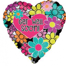Get Well Balloon - Flower
