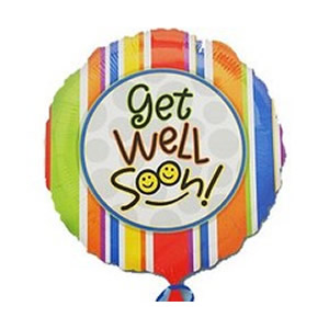Get Well Balloon - Smiles