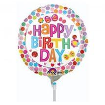 Happy Birthday Balloon - Dots